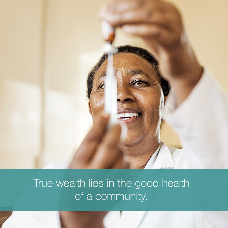 True wealth lies in the good wealth of a community. MOBILE